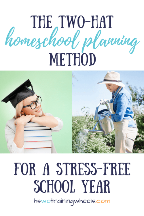 Have you ever wished somebody else could tell you how to homeschool? Here's how to set that up with the two-hat homeschool planning method!