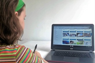 teen girl enjoying personalized learning with online homeschool curriculum