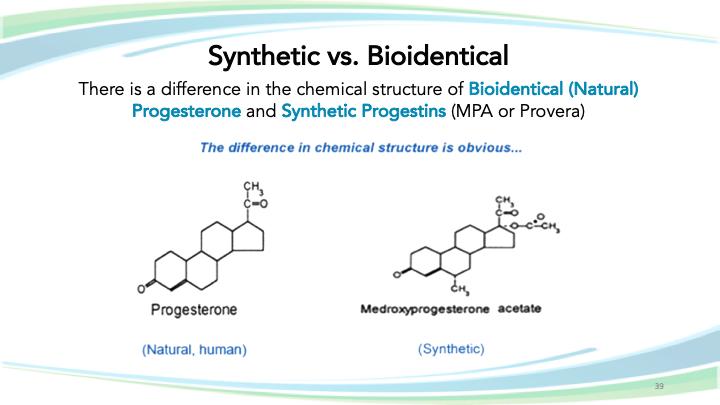 Synthetic vs bio-identical