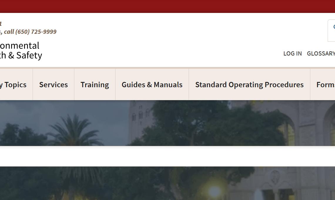 Le site dédié aux risques professionnels de l'université de Stanford