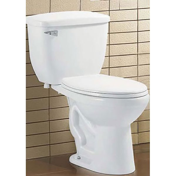 H-052 2-Pc  Rounded Single Flush Toilet (DISCONTINUED) - Hi