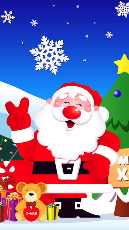 Cute Santa Phone Wallpaper Santa Claus Best Htc One Wallpapers Free And Easy To