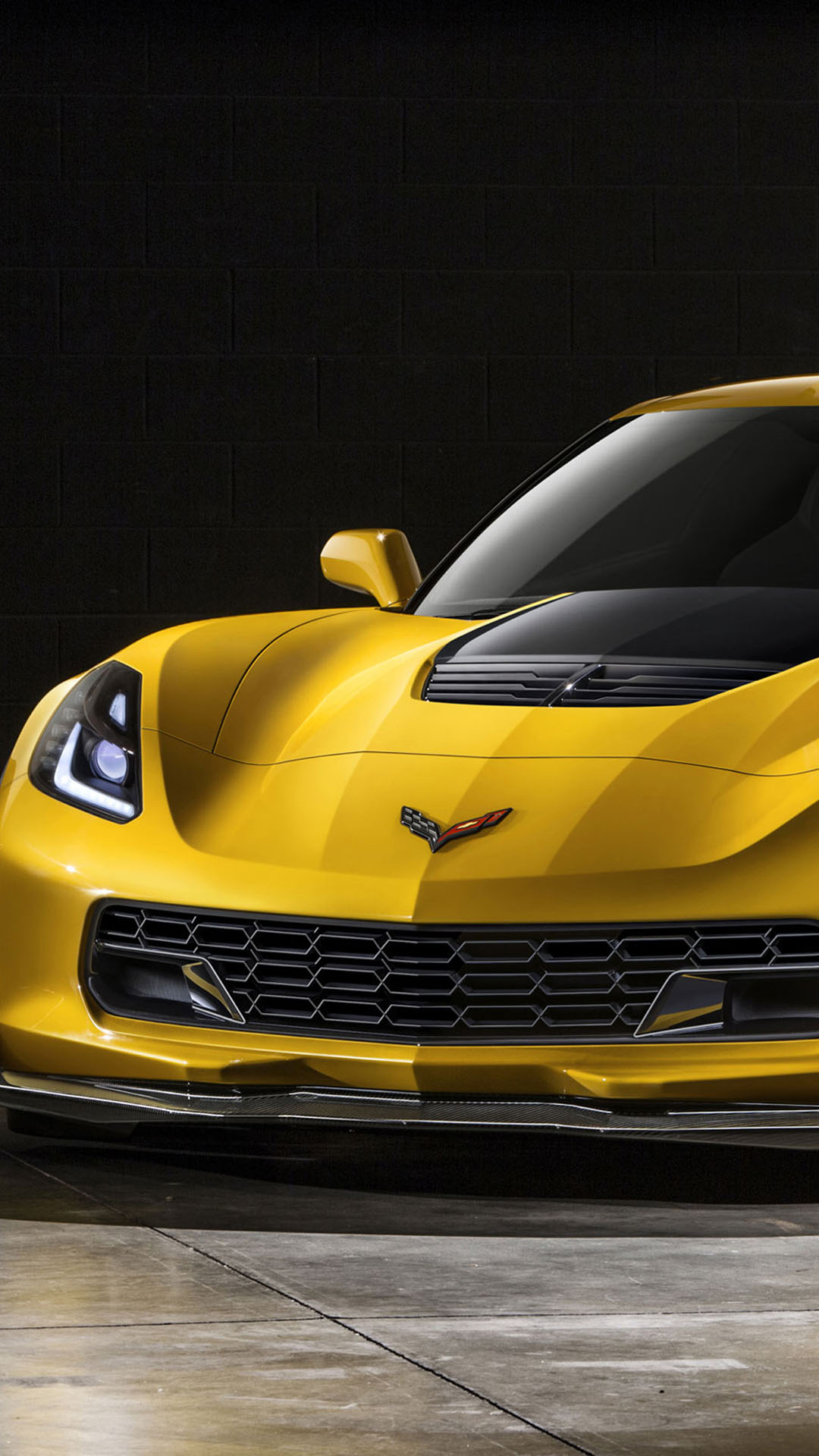Htc One M8 Wallpaper Hd Chevrolet Corvette Z06 Yellow Best Htc One Wallpapers