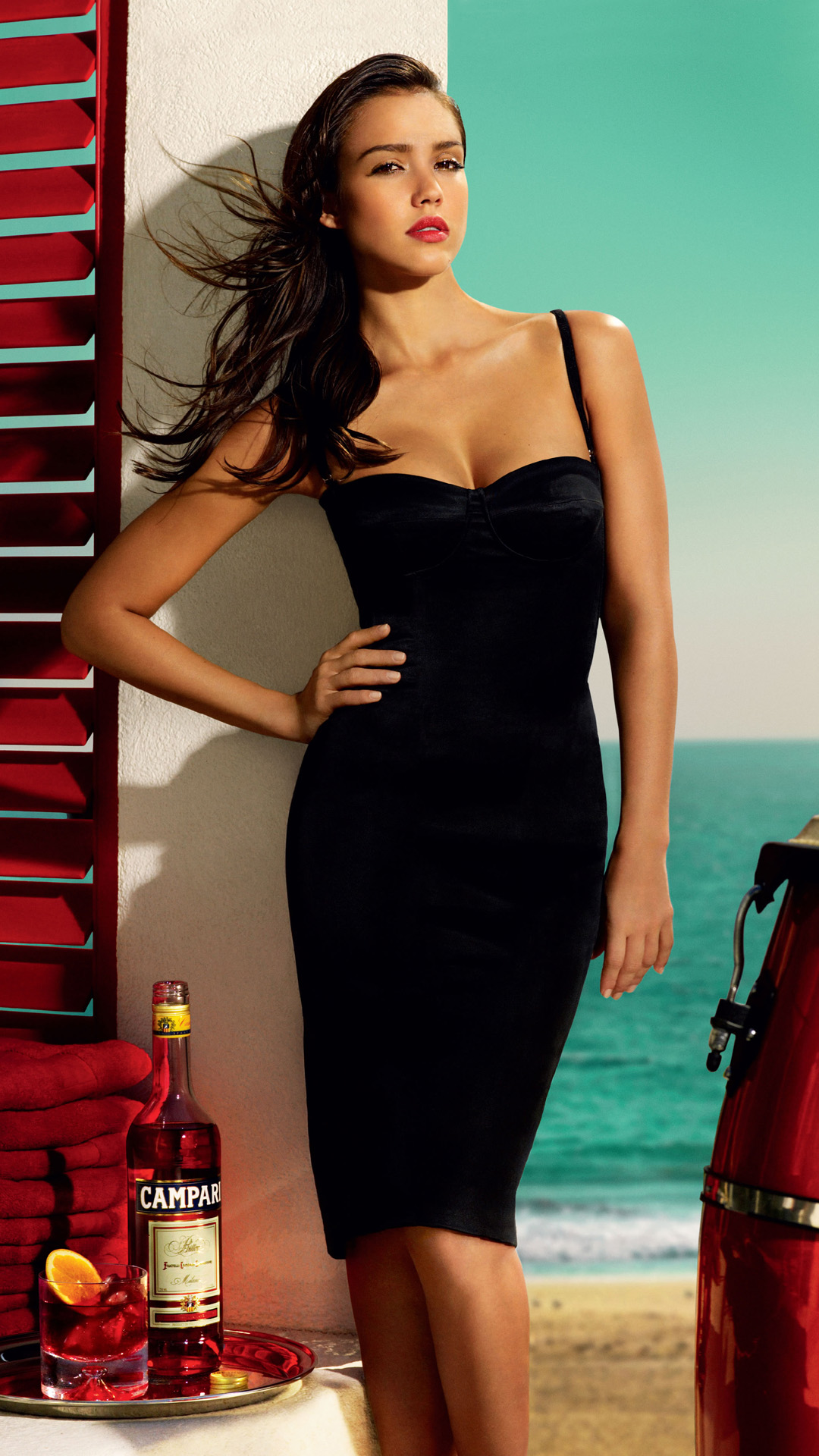 Easy A Girl Wallpapers Jessica Alba Summer Campari Best Htc One Wallpapers
