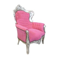Pink Arm Chair Antique Round Back Corner Baroque Armchair Table Furniture And