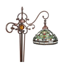 Tiffany floor lamp - Set Indiana - Statues, art-deco furniture