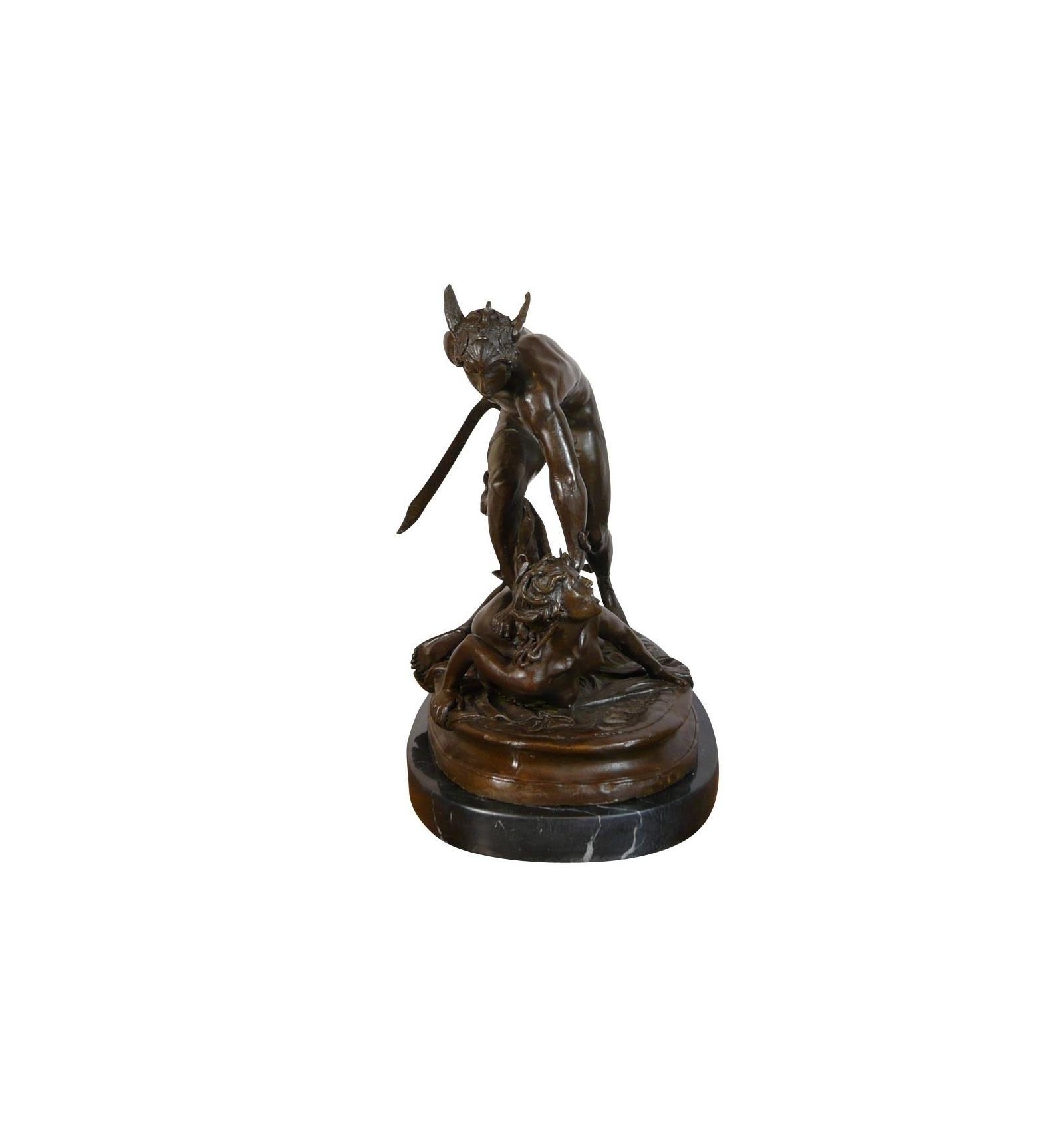 Perseus Holding The Head Of Medusa Statue Bronze