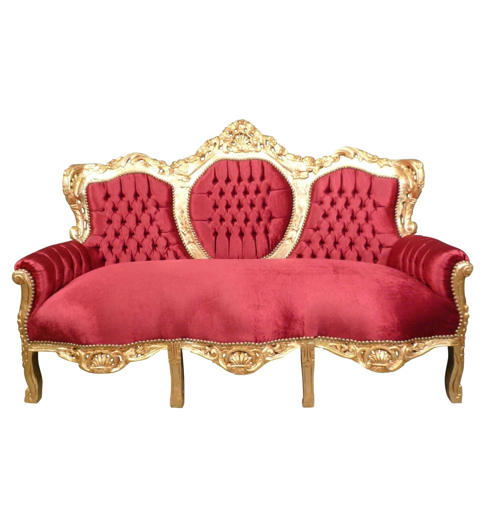 Madrid Barokke Mobler Rode Barok Sofa