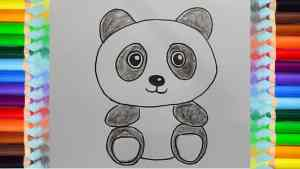 draw panda animals easy drawing cartoon