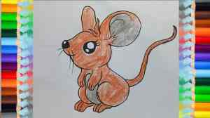 draw cartoon mouse easy animals