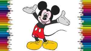 mickey draw drawing mouse easy step drawings pencil boggieboardcottage coloring paintingvalley