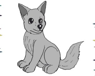 wolf easy draw step drawing pup cartoon archives