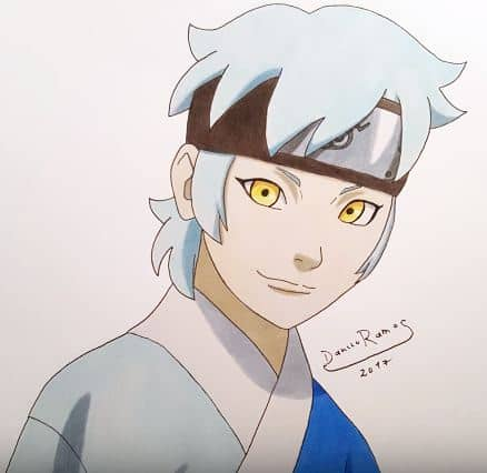 How to draw mitsuki from naruto step by step