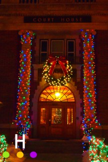 Old Court House lights, Red Deer, Alberta, Canada
