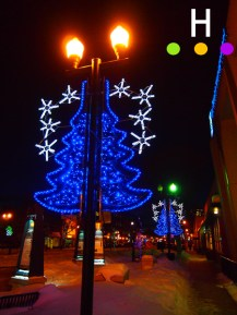 Ross Street Christmas lights, Red Deer, Alberta, Canada