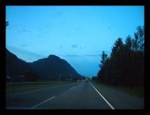early morning on the Trans Canada Highway