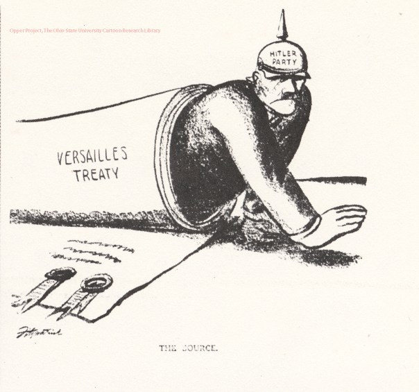 Image result for treaty of versailles cartoon