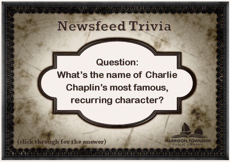 What's the name of Charlie Chaplin's most famous, recurring character?