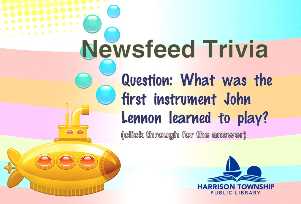 Question: What was the first instrument John Lennon learned to play?