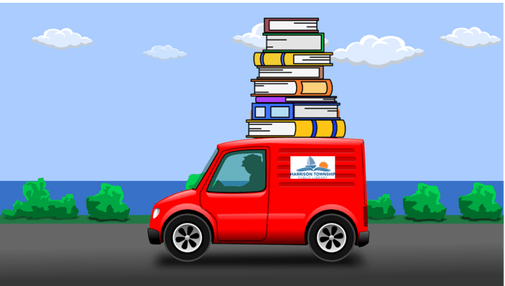 Image of truck with books on top