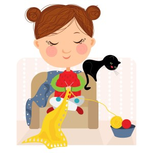 Knitting and crochet circle