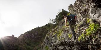 Tom Engle on Kaupo Cliffs 3