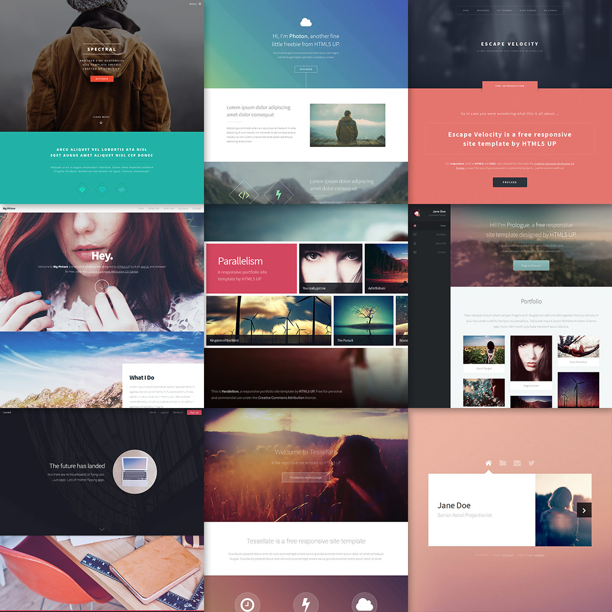 Html5 Up Responsive Html5 And Css3 Site Templates