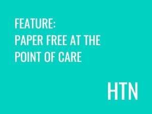 HTN Feature: Paper free at the point of care