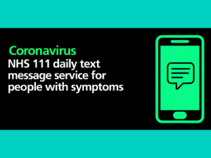 Text messaging service launched for people with symptoms of COVID-19