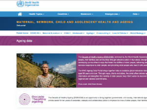 WHO launches portal for global data on the health and well-being of older people