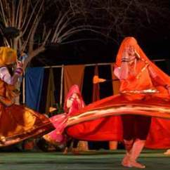 Chair Dance Ritual Song Giant Deck Folk And Tribal Dances Of India Complete List State Wise The Female Dancers Perform This They Wear Some Long Colorful Skirt Rajasthani Dresses During Their Performance Men Women Together Sing