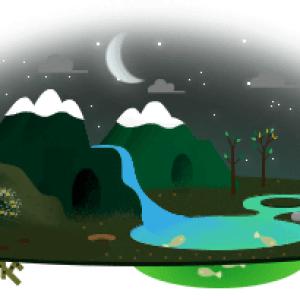 google eardh night doodle1