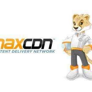 MaxCDN logo with Max 440x300