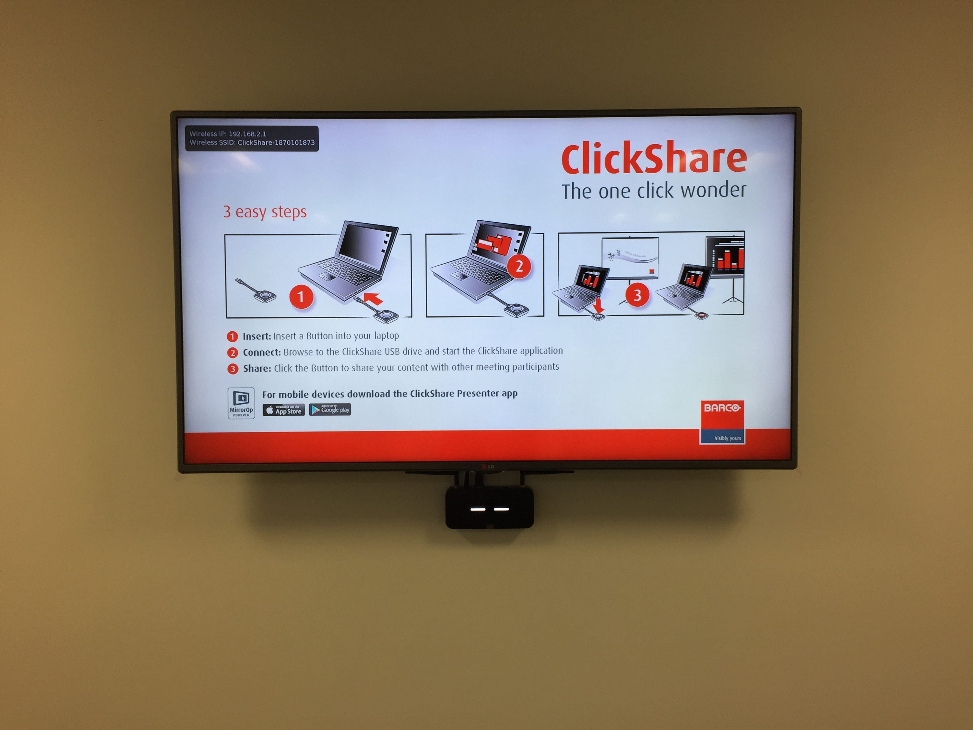 Collaboration Clickshare systems supplied and installed by hts