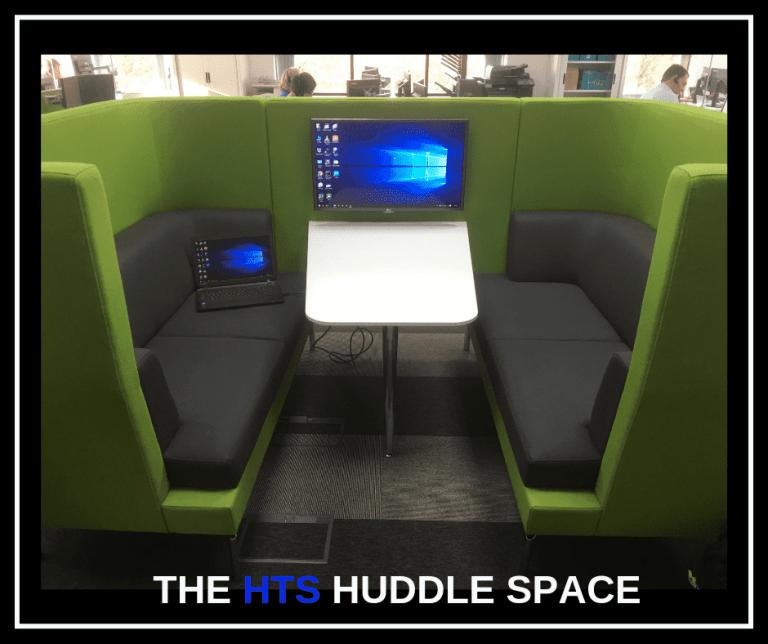 HTS huddle space, pod.