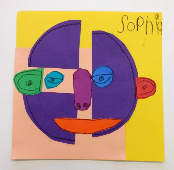Kindergarten Picasso Faces