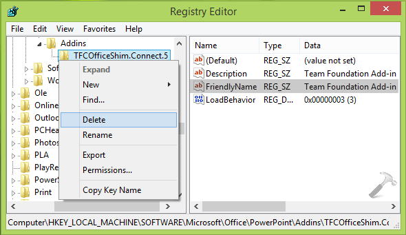 [How To] Permanently Remove Add-ins For PowerPoint 2013