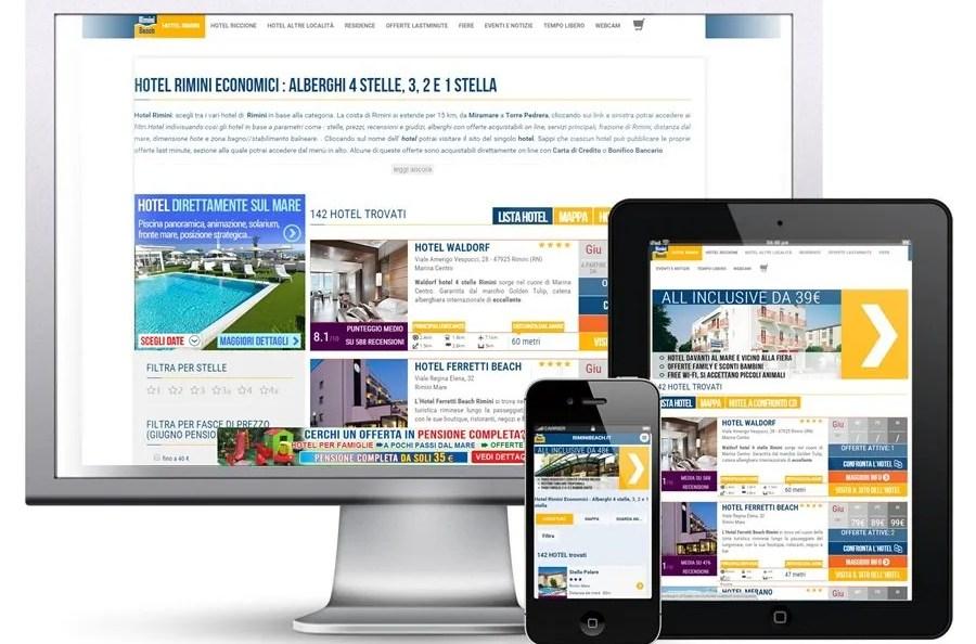 On line da qualche settimana il nuovo portale turistico della Riviera Romagnola www.riminibeach.it