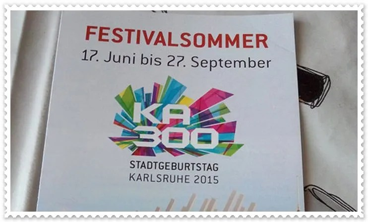 Karlsruher Festivalsommer 2015…qualche anticipazione