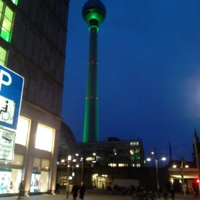 Alexanderplatz by night