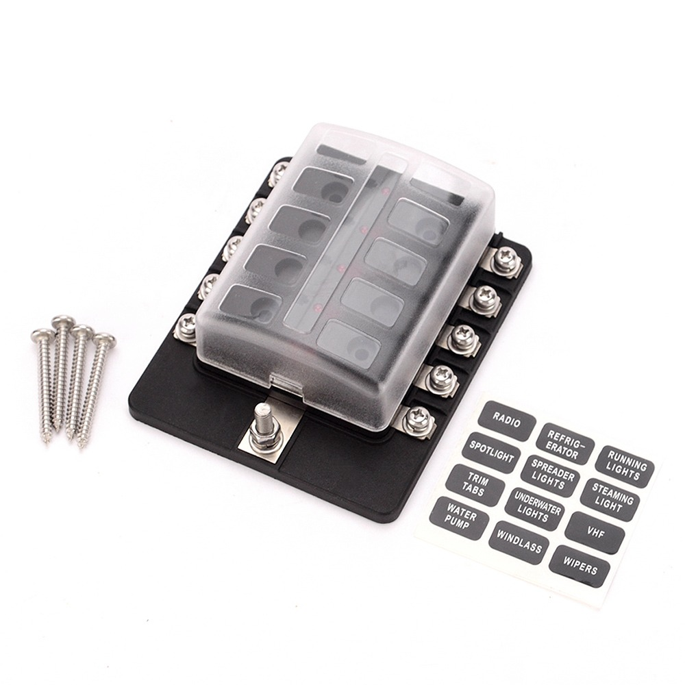 medium resolution of  box holder fuse blocks con indicador led cargando zoom