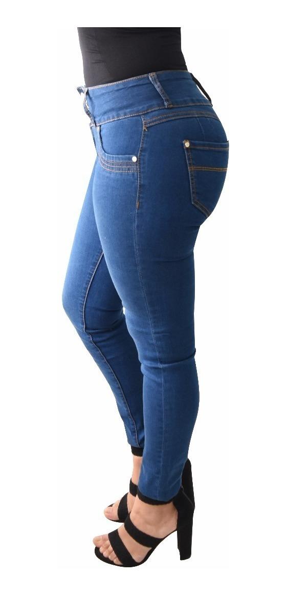 12 Pantalones Colombianos Jeans Dama Mezclilla V-f36 Mayoreo - $ 2.199.00 en Mercado Libre