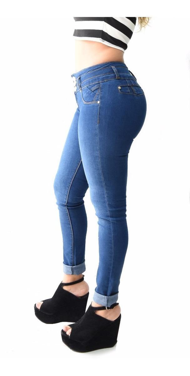 12 Pantalones Colombianos Jeans Dama Mezclilla V-f47 Mayoreo - $ 2.199.00 en Mercado Libre
