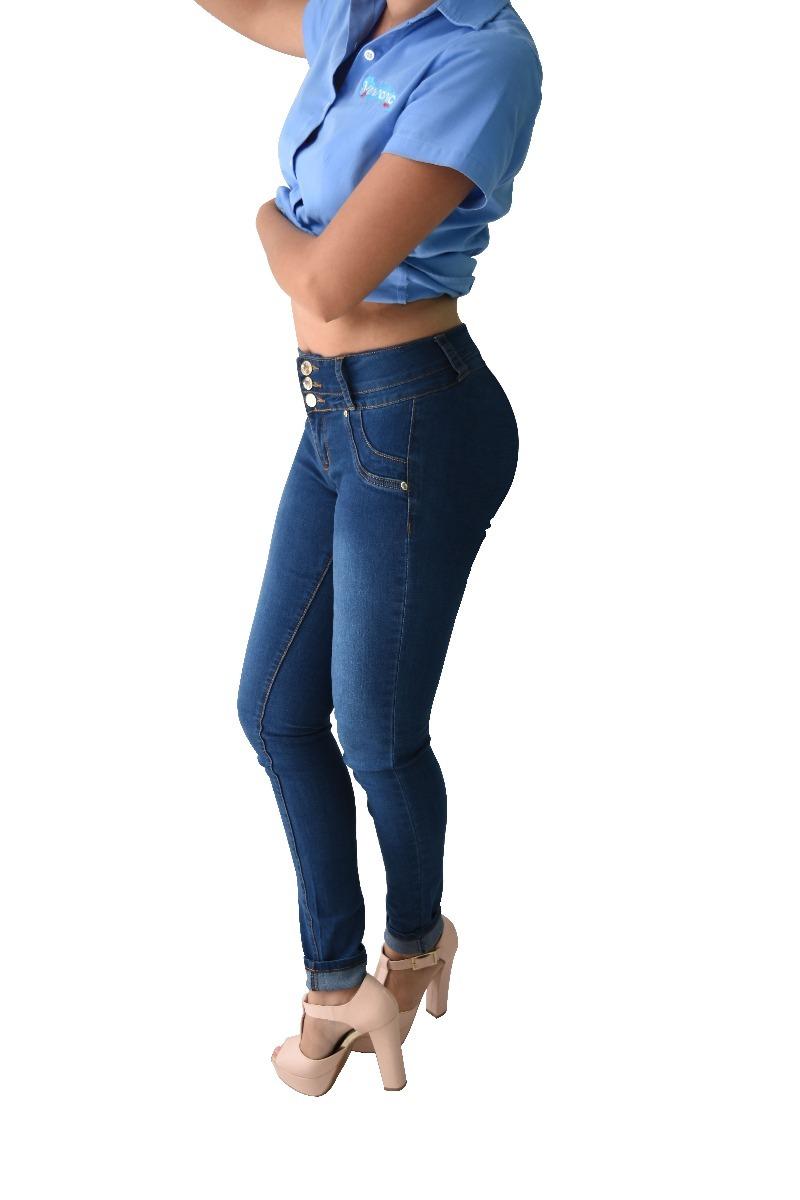 12 Pantalones Colombianos Jeans Dama Mezclilla V-f48 Mayoreo - $ 2.199.00 en Mercado Libre