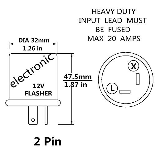 12 V Heavy Duty 2 Pin Led Compatible Electronic Flasher