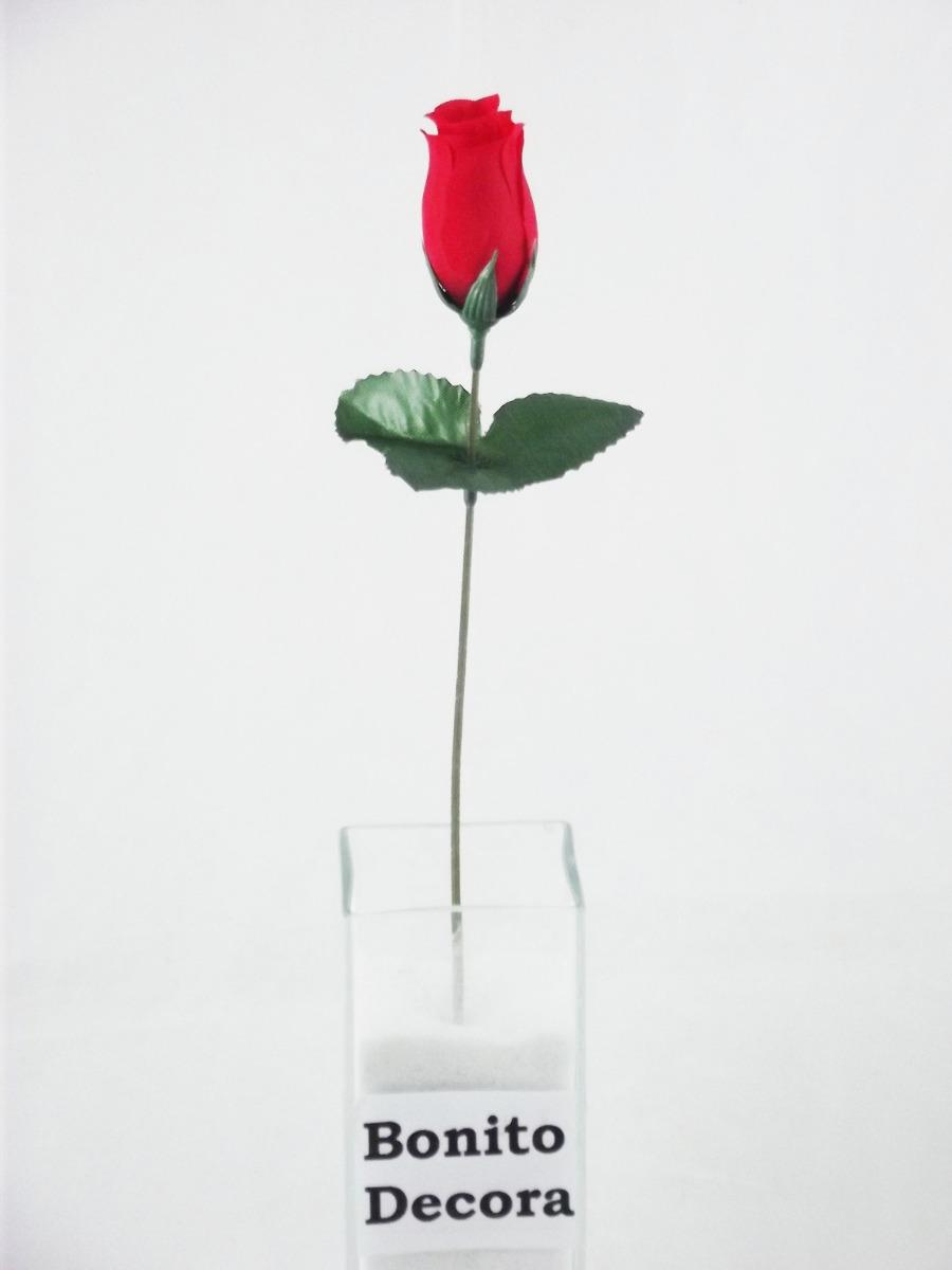 144 Rosas Artificiais  Botes Flores Artificial Vermelhas