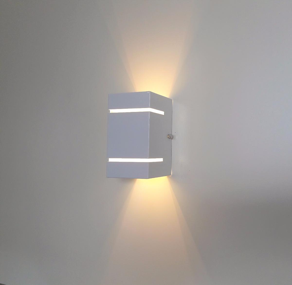 2 Spot Luminria De Parede Arandela Externa Fachos  Led