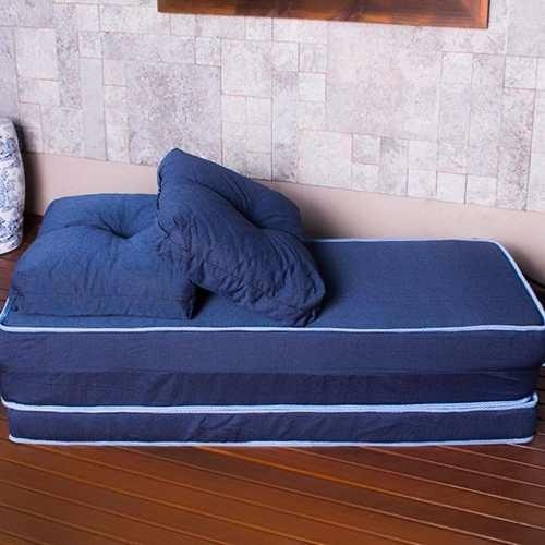 sofa usado no mercado livre best way to clean fabric 3 em 1 você escolhe! puff, sofá, colchão + travesseiro ...