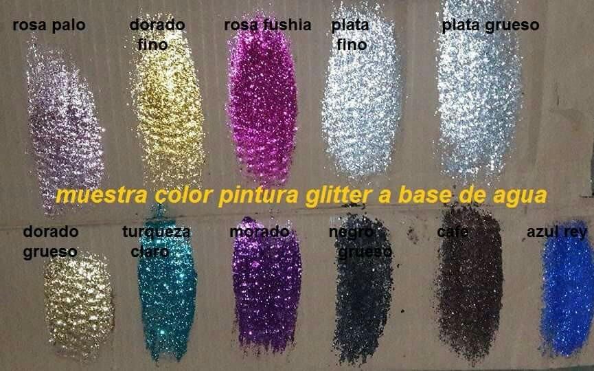 3 Litro De Pintura Glitter A Base De Agua Y 12 De Sellador   60000 en Mercado Libre