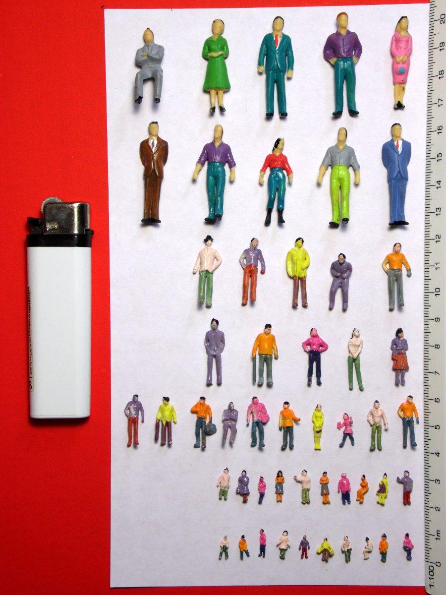 50 Figuras Humanas Varias Escalas Maquetas Arquitectura
